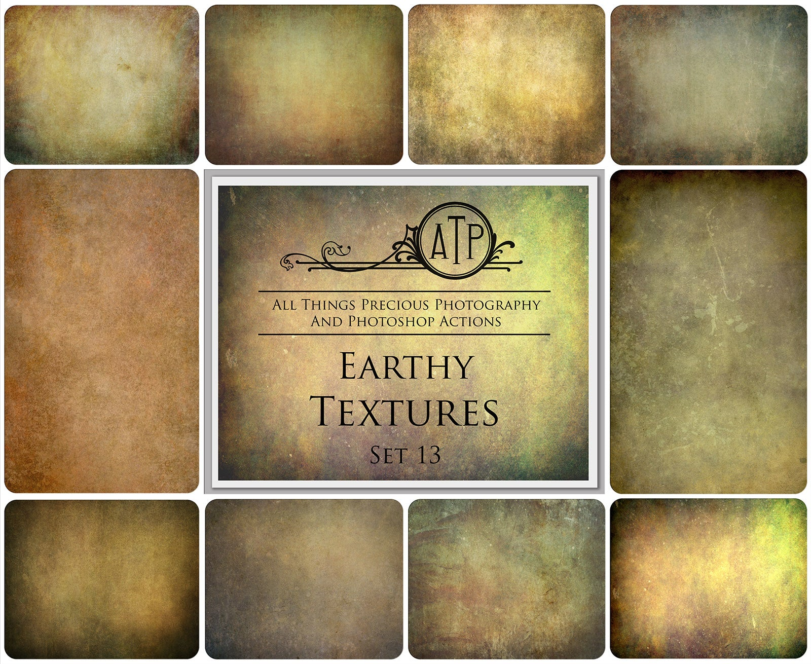 10 Fine Art TEXTURES - EARTHY Set 13