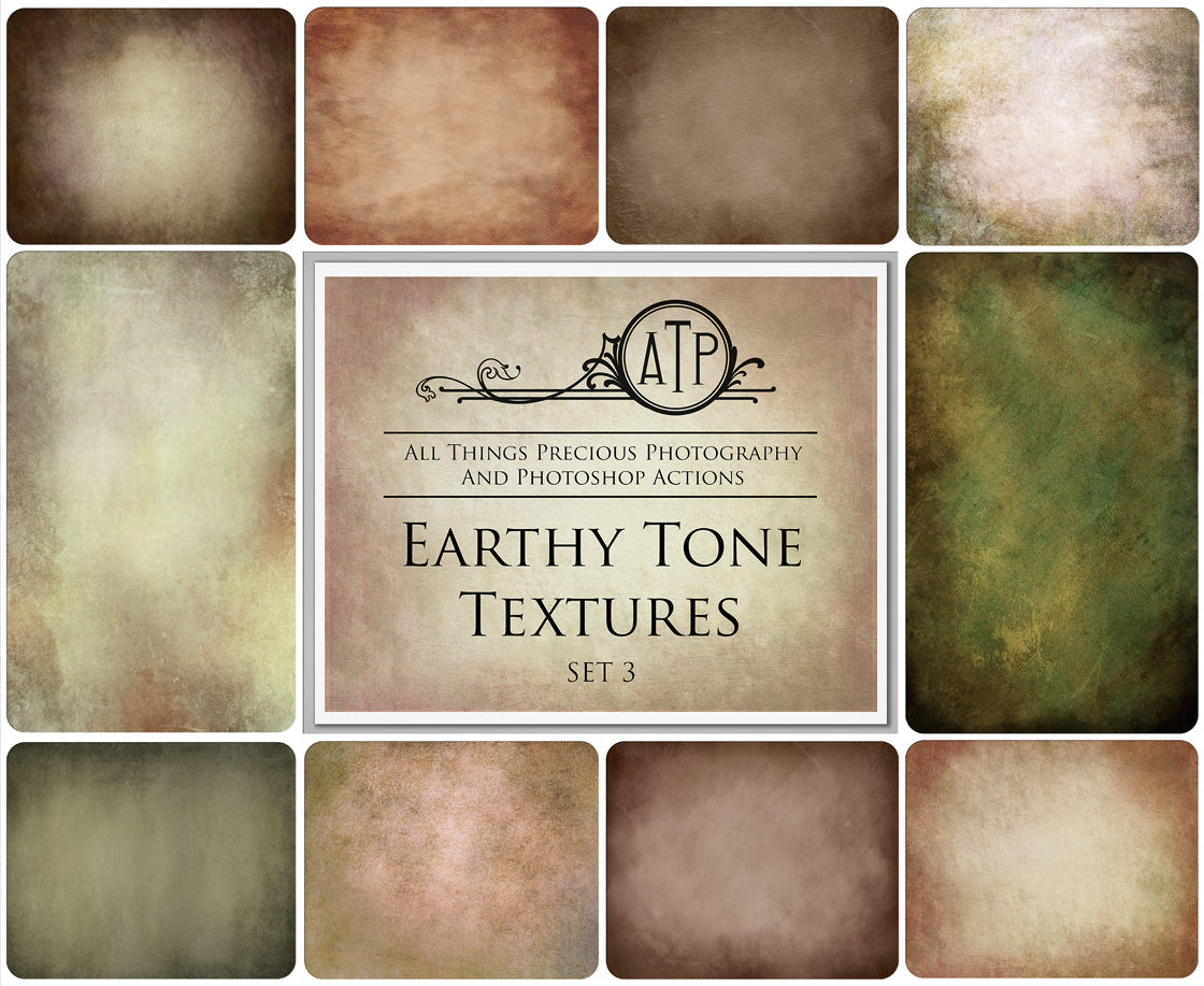 10 Fine Art TEXTURES - EARTHY Set 3