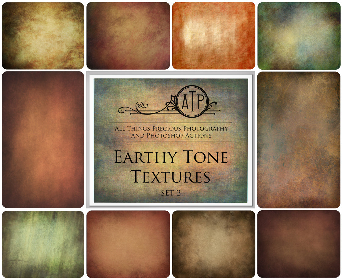 10 Fine Art TEXTURES - EARTHY Set 2