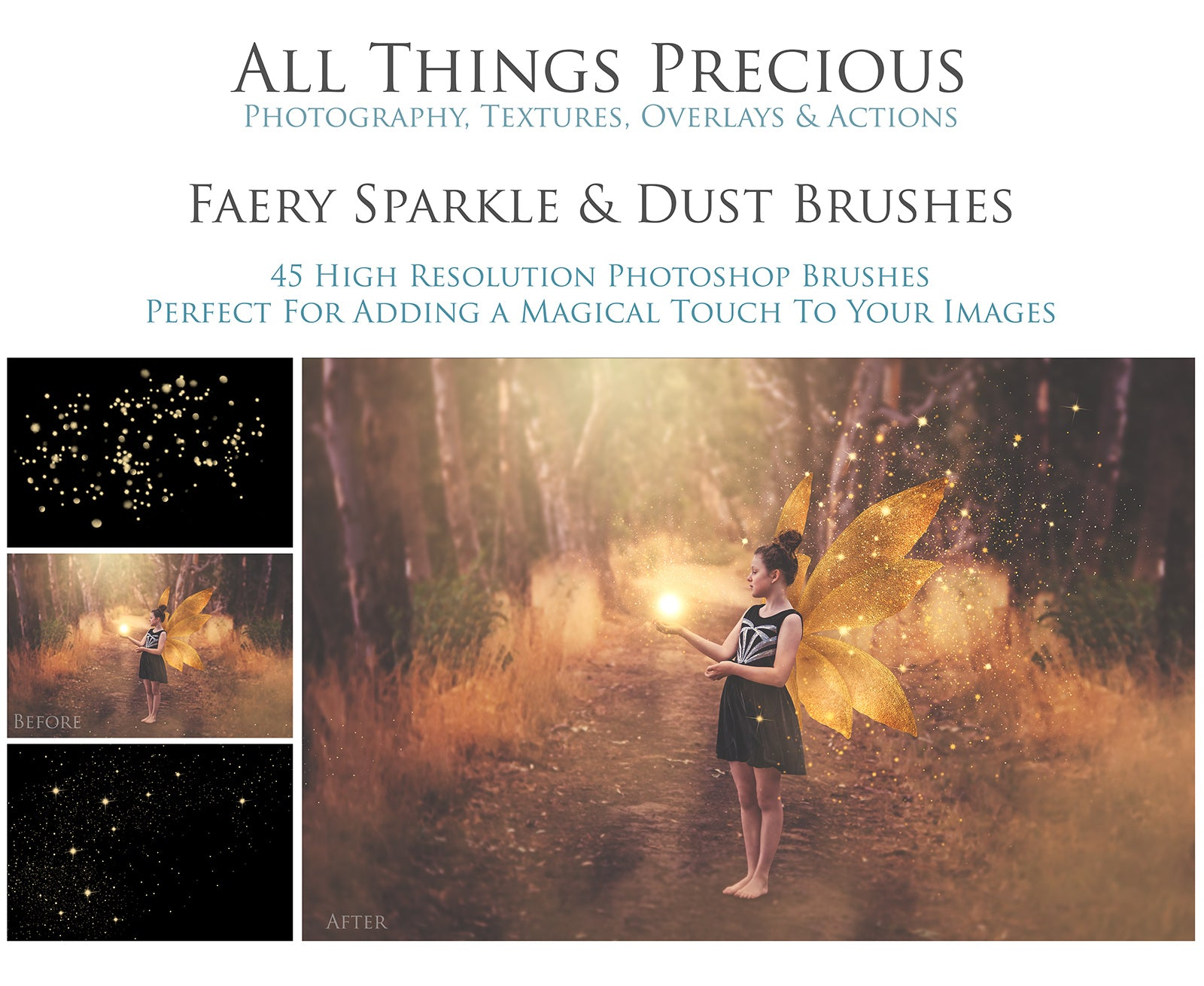 FAIRY SPARKLE & DUST Photoshop Brushes