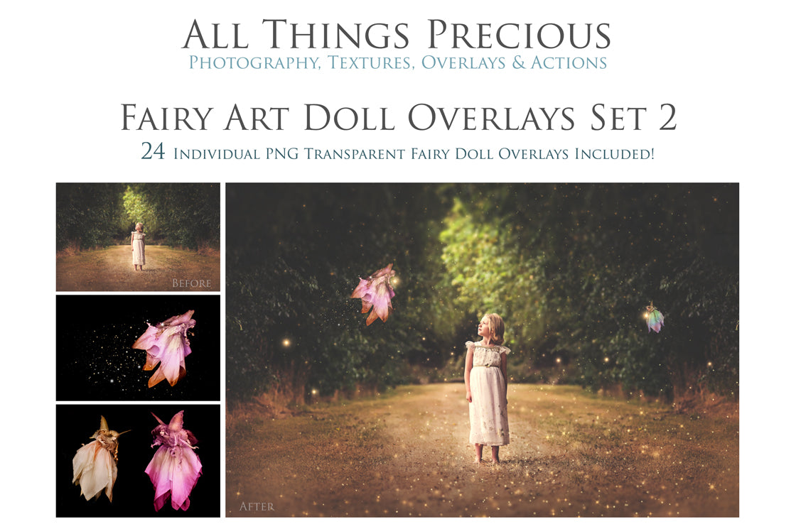 ART DOLL FAIRY Digital Overlays Set 2