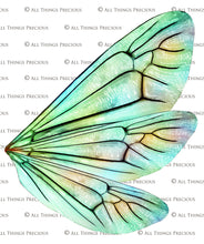 Load image into Gallery viewer, PRINTABLE FAIRY WINGS for Art Dolls - Set 14