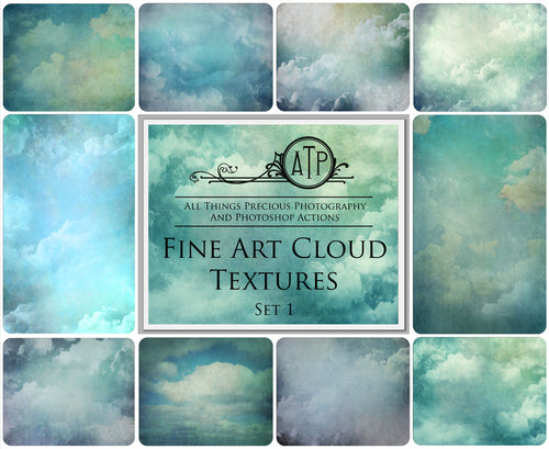 10 Fine Art CLOUD High Resolution TEXTURES Set 1