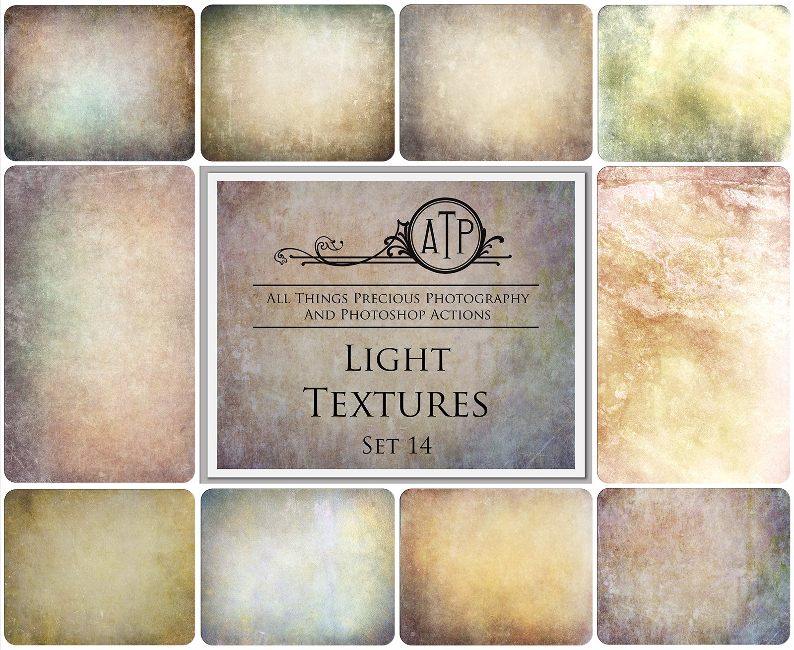 10 Fine Art TEXTURES - LIGHT Set 14
