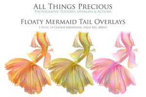 FLOATY MERMAID TAILS - Digital Overlays