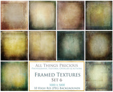 Load image into Gallery viewer, 10 Fine Art TEXTURES - FRAMED Set 6