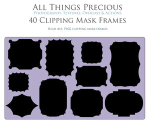 CLIPPING MASK FRAMES - Clipart