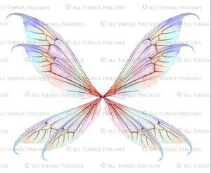 20 Png TRANSPARENT FAIRY WING Overlays Set 34