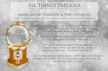 Load image into Gallery viewer, SNOW GLOBE Png Digital Overlays and PSD Template No.17