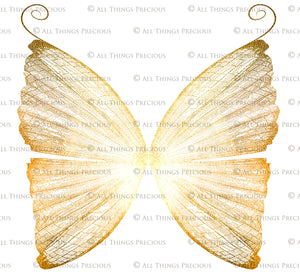 14 Png GOLDEN FAIRY WING Overlays Set 2