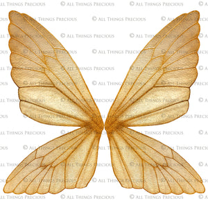 14 Png GOLDEN FAIRY WING Overlays Set 4