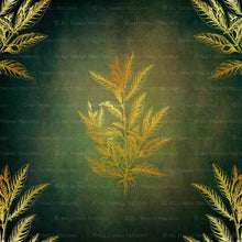 Load image into Gallery viewer, GOLD FOLIAGE - Dark Green - Digital Papers