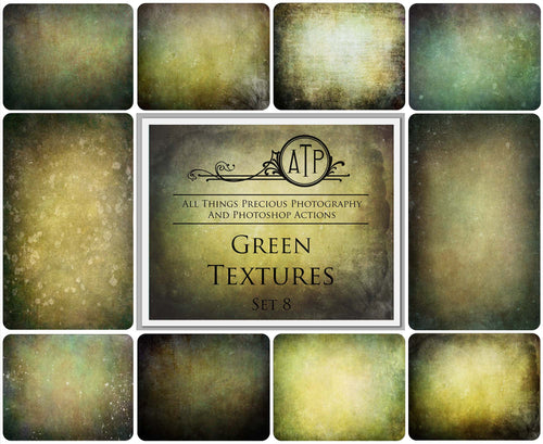 10 Fine Art TEXTURES - GREEN Set 8