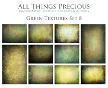Load image into Gallery viewer, 10 Fine Art TEXTURES - GREEN Set 8