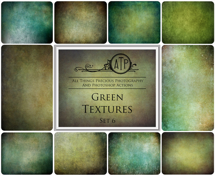 10 Fine Art GREEN High Resolution TEXTURES Set 6