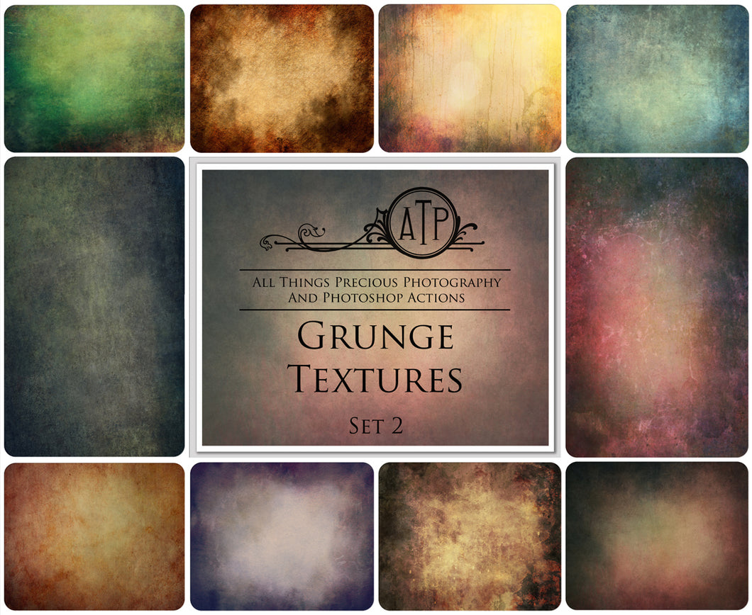 10 Fine Art GRUNGE High Resolution TEXTURES Set 2