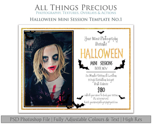 HALLOWEEN MINI SESSION - PSD Template No.1