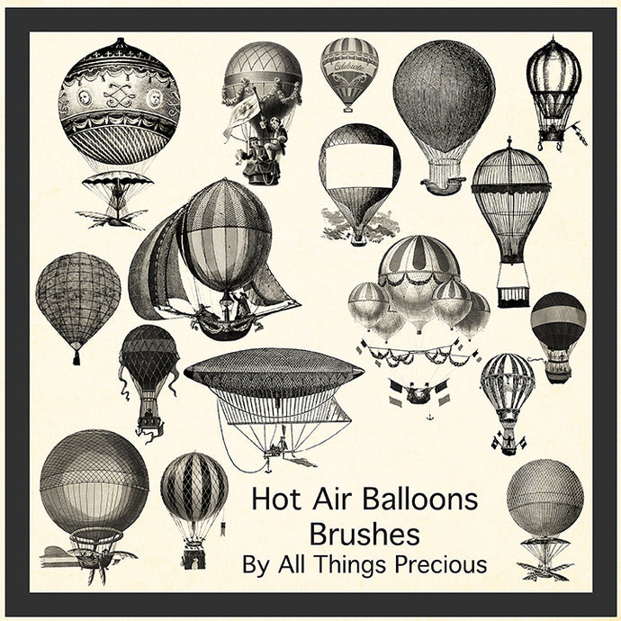 PHOTOSHOP BRUSHES - Vintage Balloon - FREE DOWNLOAD