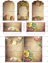 Load image into Gallery viewer, TEA ROSE Printable JUNK JOURNAL - Digital Scrapbooking