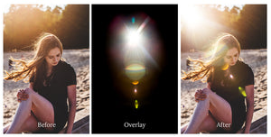 GORGEOUS SUN FLARE & LIGHT LEAK Digital Overlays - Bundle No.2