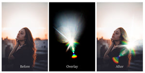LENS FLARE Digital Overlays Set 2