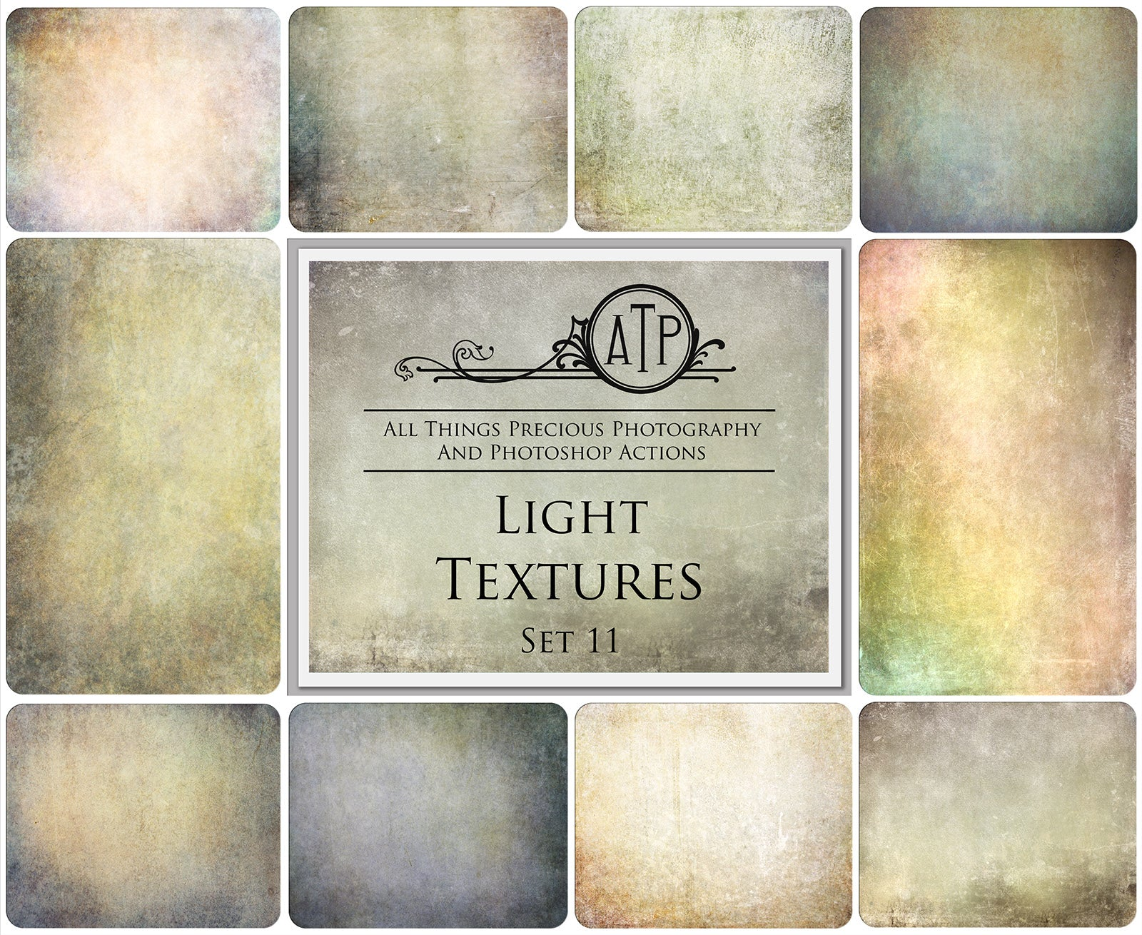 10 Fine Art TEXTURES - LIGHT Set 11