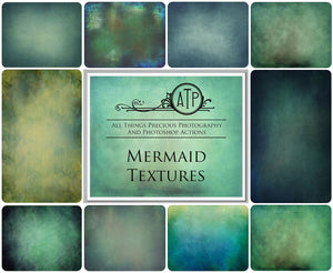 10 Fine Art TEXTURES - MERMAID Set 1