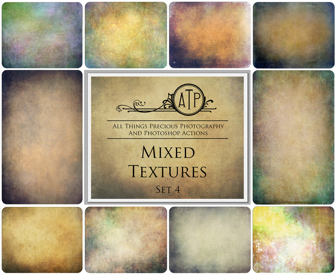 10 Fine Art TEXTURES - MIXED Set 4
