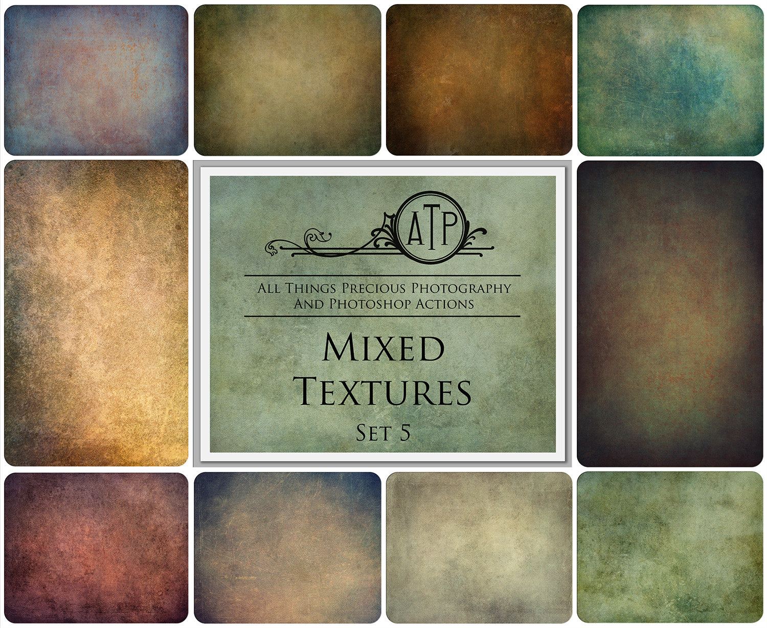 10 Fine Art TEXTURES - MIXED Set 5