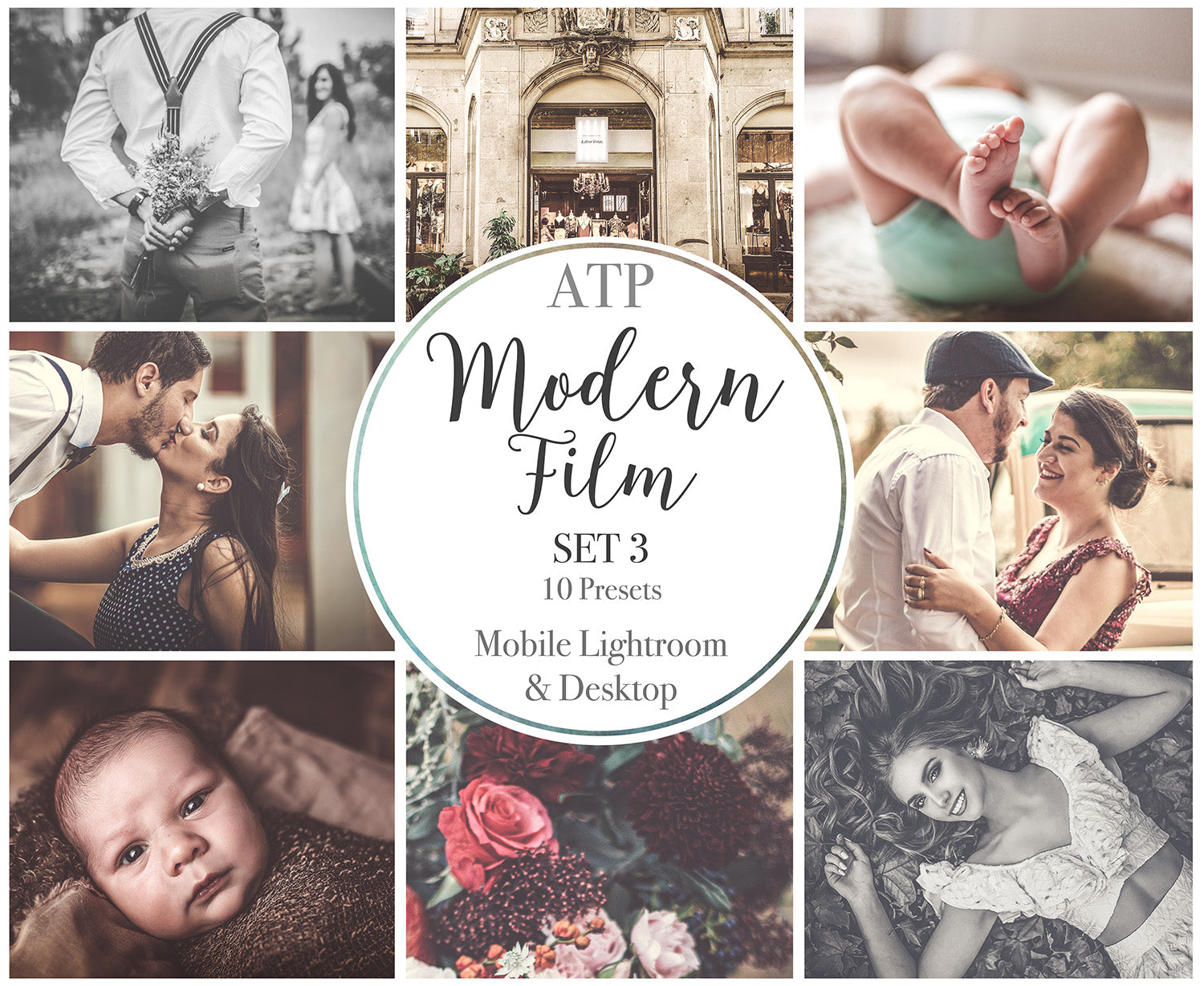 MODERN FILM Set 3 Lightroom Presets - For Mobile and Desktop