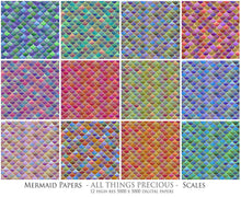Load image into Gallery viewer, MERMAID SCALES Digital Papers Set 1