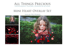 Load image into Gallery viewer, 12 CONFETTI HEARTS Digital Overlays