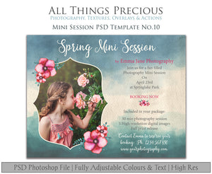 SPRING MINI SESSION - PSD Template No. 10