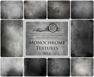 10 Fine Art TEXTURES - MONOCHROME Set 3