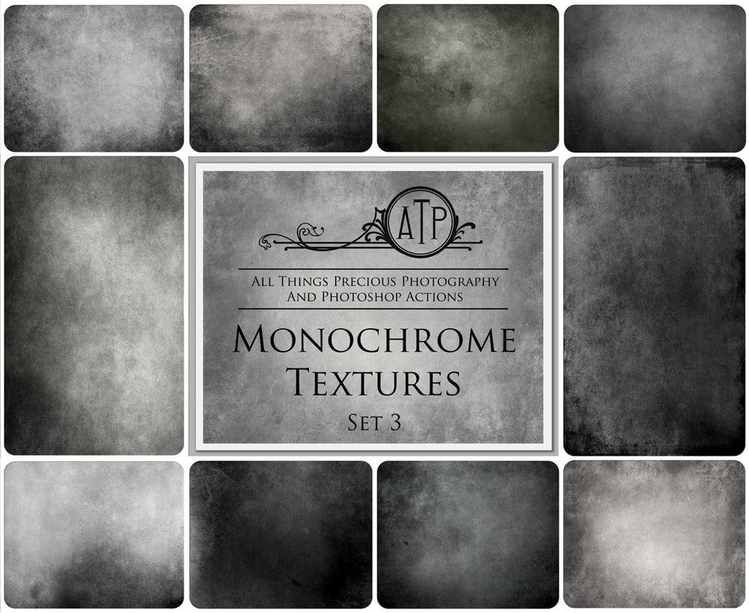 10 Fine Art MONOCHROME High Resolution TEXTURES Set 3