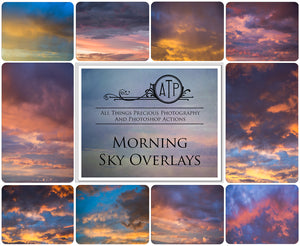 10 MORNING SKY Digital Overlays SET 1