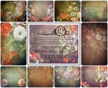Load image into Gallery viewer, 10 OLD MASTERS Floral Background TEXTURES / DIGITAL BACKDROPS - Set 13
