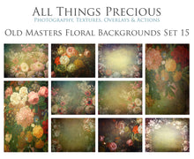 Load image into Gallery viewer, 10 OLD MASTERS Floral Background TEXTURES / DIGITAL BACKDROPS  - Set 15