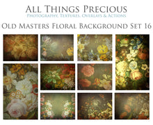 Load image into Gallery viewer, 10 OLD MASTERS Floral Background TEXTURES / DIGITAL BACKDROPS  - Set 16