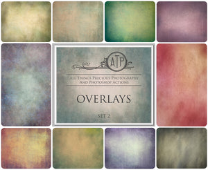 10 Fine Art OVERLAY High Resolution TEXTURES Set 2