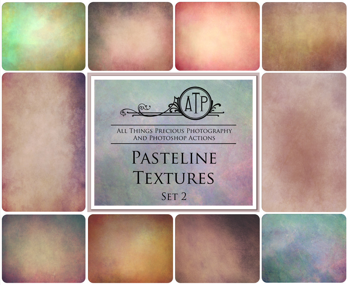 10 Fine Art PASTELINE High Resolution TEXTURES Set 2