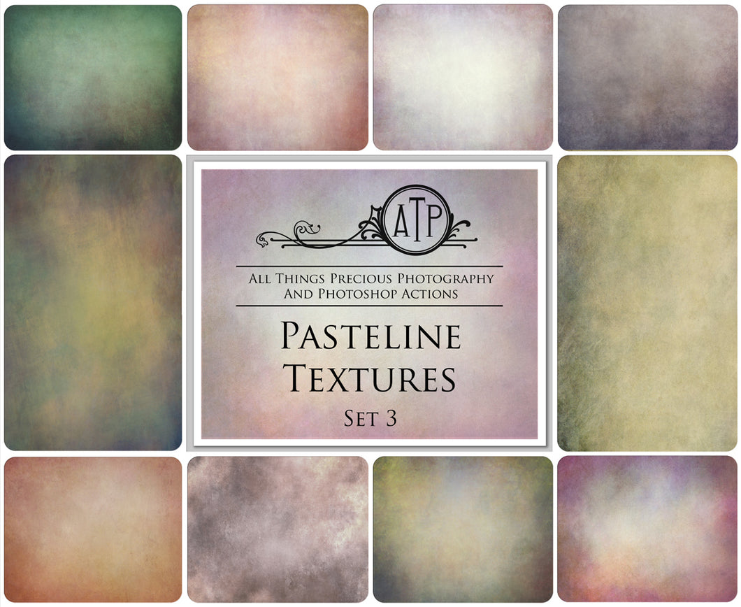 10 Fine Art PASTELINE High Resolution TEXTURES Set 3