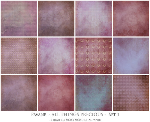 PAVANE Digital Papers Set 1