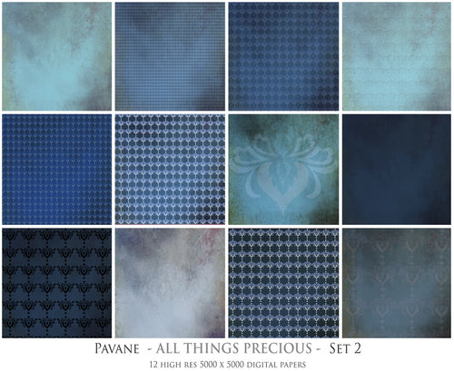 PAVANE Digital Papers Set 2