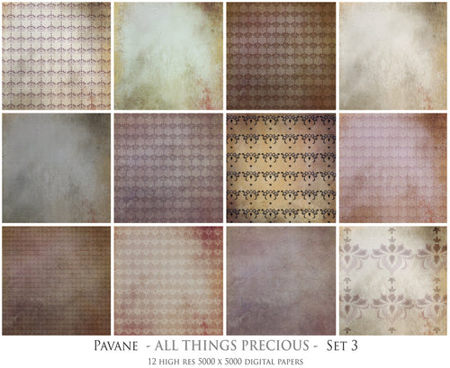 PAVANE Digital Papers Set 3
