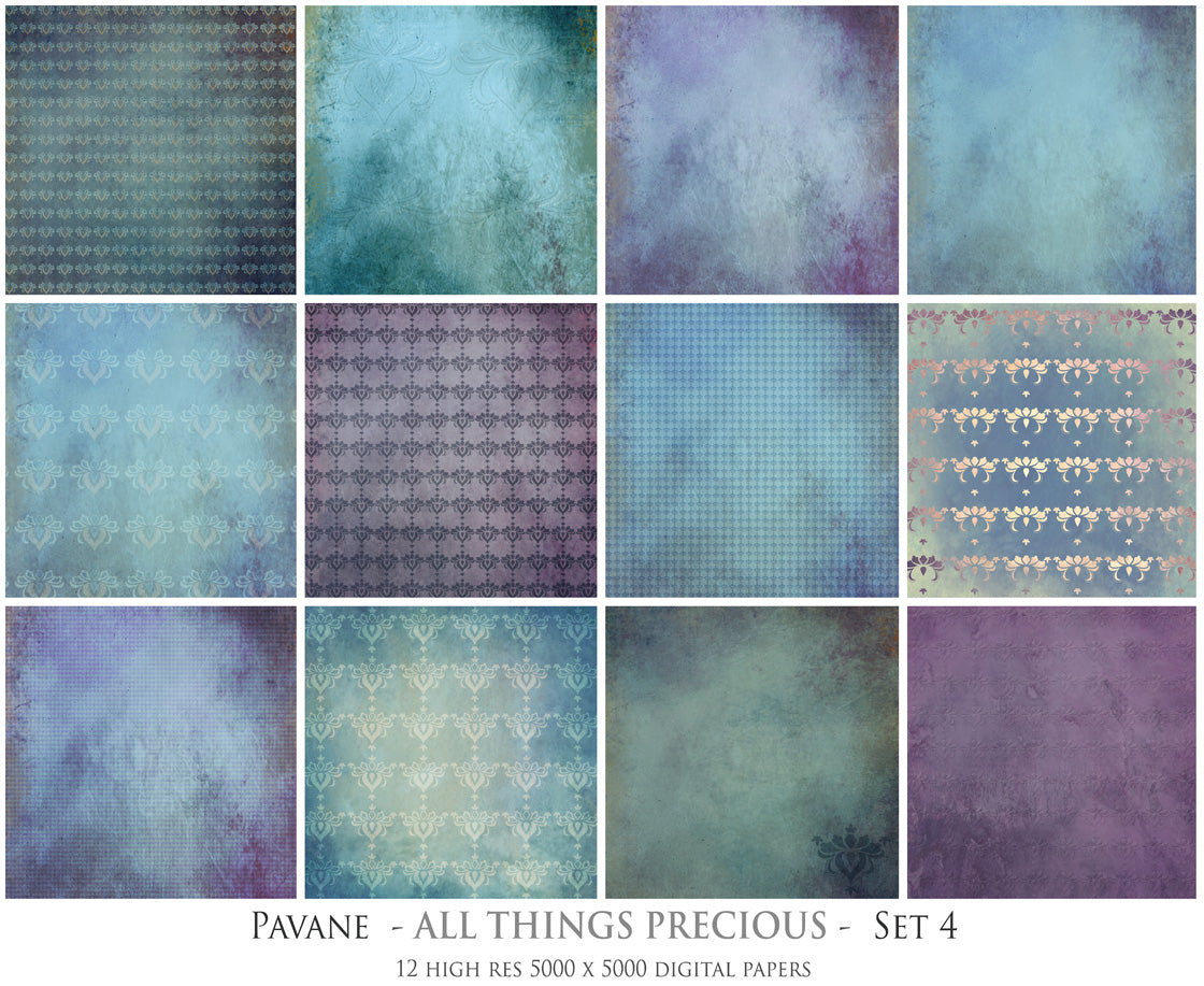 PAVANE Digital Papers Set 4