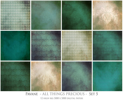 PAVANE Digital Papers Set 5
