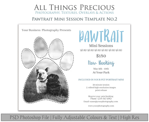 PAWTRAIT MINI SESSION - PSD Template No. 2