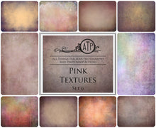 Load image into Gallery viewer, 10 Fine Art TEXTURES - PINK Set 6