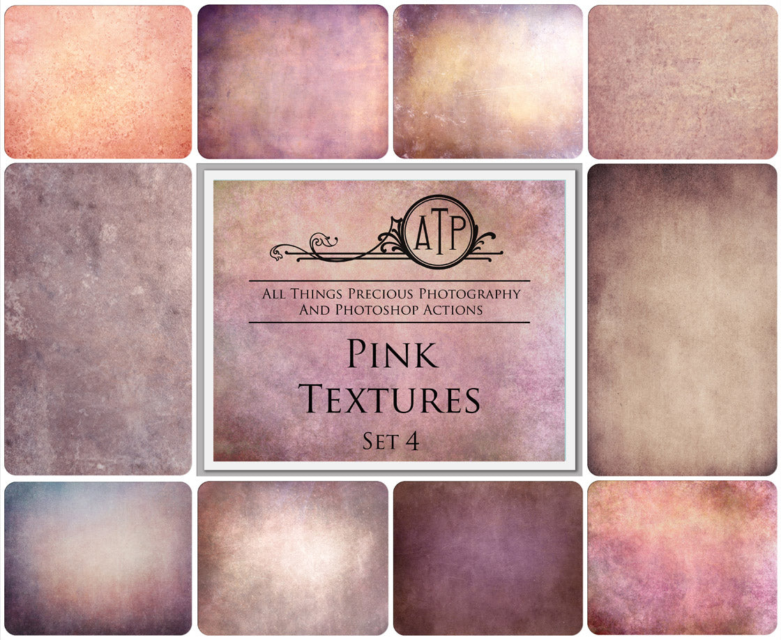 10 Fine Art PINK High Resolution TEXTURES Set 4